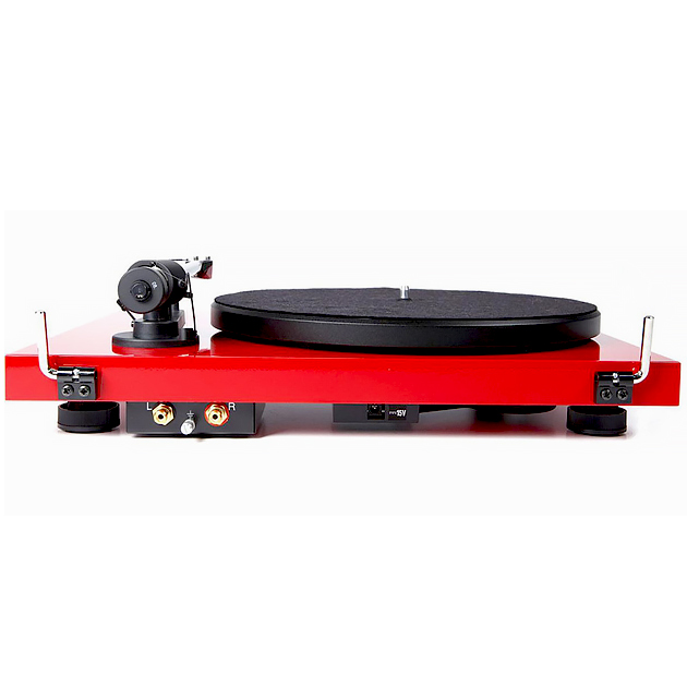 Pro-Ject Debut Carbon DC Gloss Black Turntable with Ortofon 2m Red